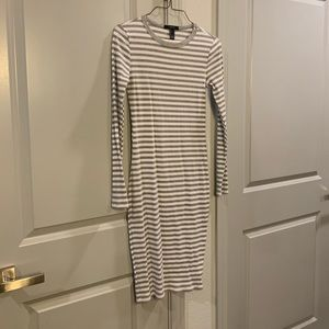 Forever 21 Long Sleeve Striped Sweater Dress